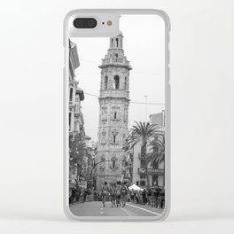 Black White Architecture in Valencia Clear iPhone Case