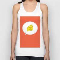 cheese Tank Tops featuring cheese by ariel kotzer