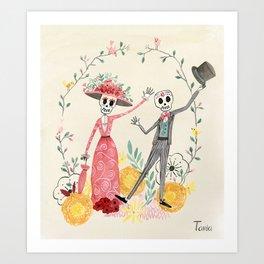 La Catrina y el Catrín Art Print