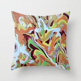 Abstract Music orange Conga Rhythm pattern Throw Pillow