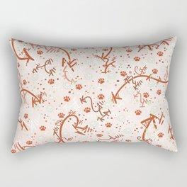 Peppermint Candy Paw Prints Rectangular Pillow