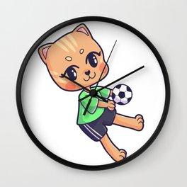 Handball cat tomcat pet Sports Wall Clock