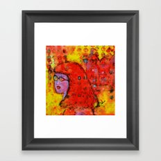 Red Hot Summer Girl Framed Art Print