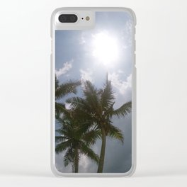 sun and palms Clear iPhone Case