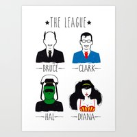 league Art Prints featuring THE LEAGUE by kravic