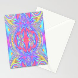 Mitosis of butterflies in dawn rainbow Stationery Cards