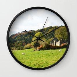 Field of Sheep Ireland Wall Clock