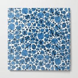 Barca Dots Pattern blue Metal Print