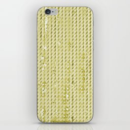 Wash Out Faux Burlap- Wheat iPhone Skin