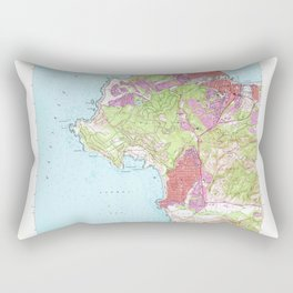 Monterey, CA from 1947 Vintage Map - High Quality Rectangular Pillow