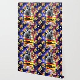 Hamburger Astro Cat On Burger Wallpaper
