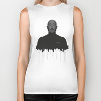tupac Biker Tanks featuring Tupac portrait by Beitebe