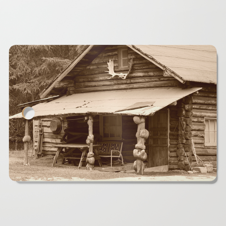 Old Log Cabin Cutting Board By Alaskanmommabear Society6
