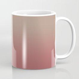 Ombre Warm Taupe and Dusty Cedar Coffee Mug