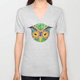 Nursery Green Owl Unisex V-Neck