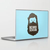 hair Laptop & iPad Skins featuring Beard Season by Chase Kunz