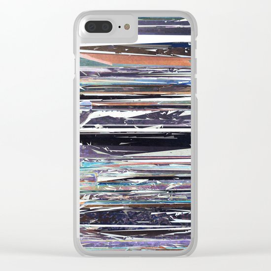 Piano Keys Abstract Clear iPhone Case