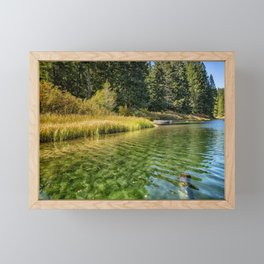 Jewel Like Tones of Clear Lake Framed Mini Art Print