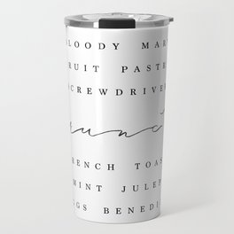 Brunch Typography • Script and Breakfast List Travel Mug
