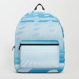 Abstract Digital Space Blue Techno Design  Backpack