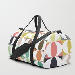 Geometrics Loops Pattern Duffle Bag