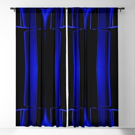 Playing in Blue Blackout Curtain