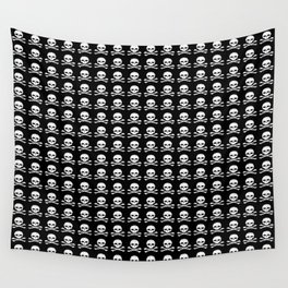 Skull and X-Bones in Black and White (Smaller) Wall Tapestry