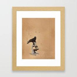 Science Crow Framed Art Print