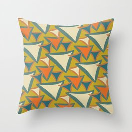 Decades Young 70's Living Room Triangles Throw Pillow
