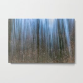 Abstract forest, intentional camera movement Metal Print