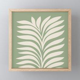 Abstract Foliage 5. Sage Green Framed Mini Art Print