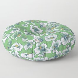 Whimsical Flowers Floor Pillow