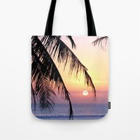 bali Tote Bags featuring Bali Sunset by Coconut Living