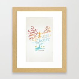 You heart Framed Art Print