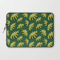 Pretty Clawed Green Leaf Pattern Laptop Sleeve
