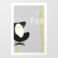 egg Art Prints featuring Egg by bri musser