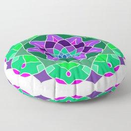 Mandala in nostalgic colors Floor Pillow