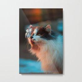 Feline Fascination Metal Print