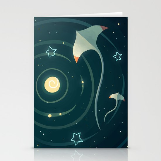 Space Ray Stationery Cards