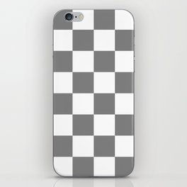 Large Checkered - White and Gray iPhone Skin
