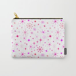 Atomic Starry Night in White + Mod Pink Carry-All Pouch