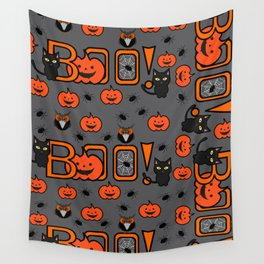 Boo Halloween pattern Wall Tapestry