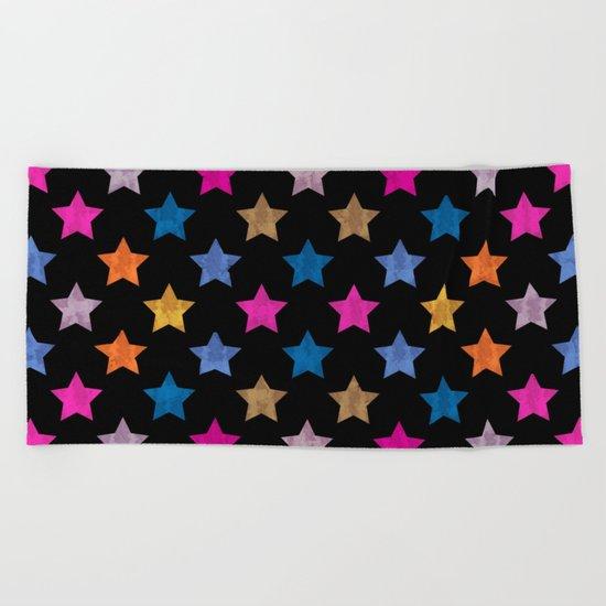 Colorful Star IV Beach Towel
