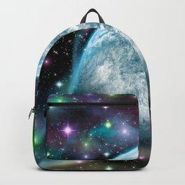 Earth galaxy nebula 180715 Backpack