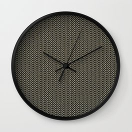 Faux Chainmail over Canvas Wall Clock