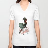 valentine V-neck T-shirts featuring Valentine by Illu-Pic-A.T.Art