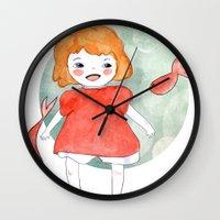 ponyo Wall Clocks featuring Ponyo by munieca