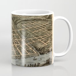 Map Of Knoxville 1871 Coffee Mug