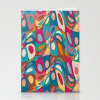psychedelic Stationery Cards featuring Psychedelic by Helene Michau