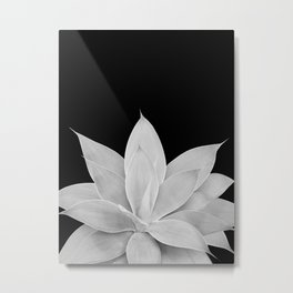 Gray Agave on Black #1 #tropical #decor #art #society6 Metal Print